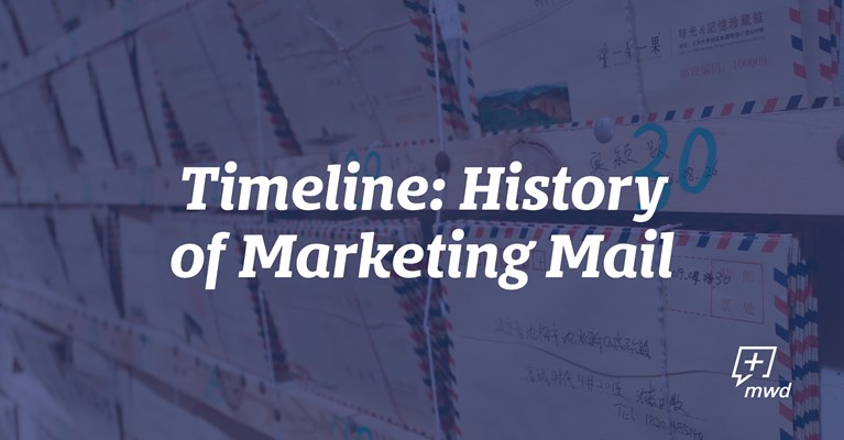 Timeline: History of Marketing Mail