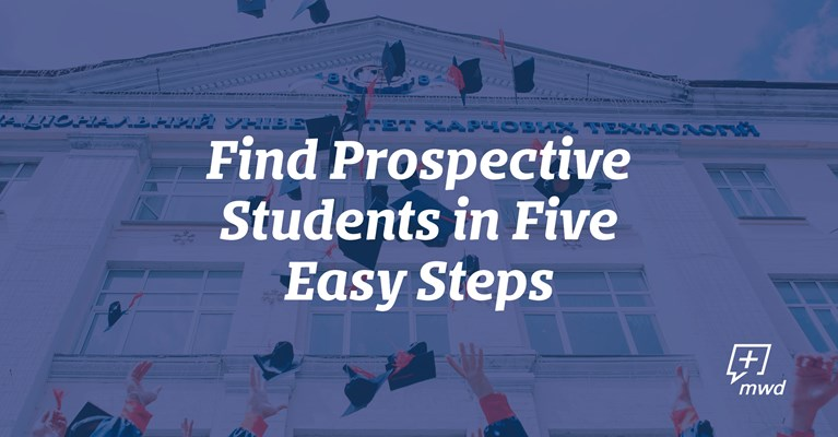Find Prospective Students in 5 Easy Steps