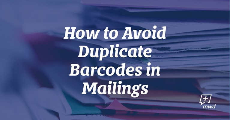 How to Avoid Duplicate Barcodes in Mailings