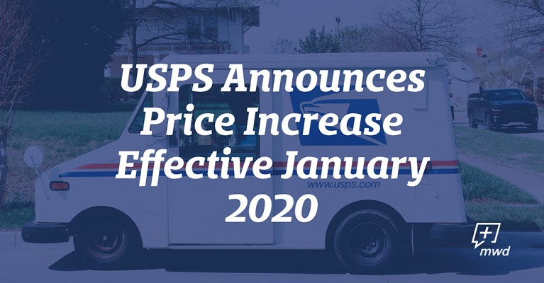 USPS Announces Price Increase Effective January 2020