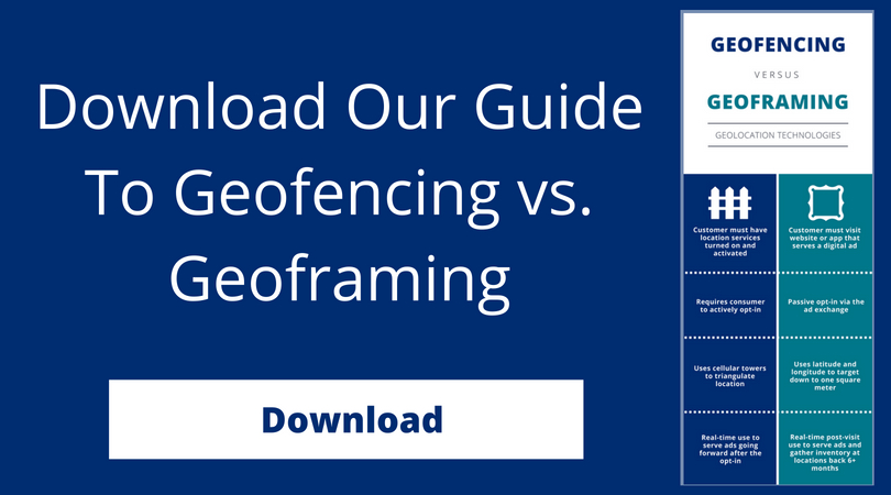 Download Our Guide To Geofencing vs. Geoframing
